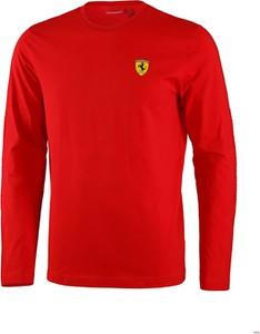 Czerwona bluza Scuderia Ferrari F1 z bawełny w sportowym stylu