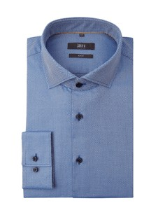 Niebieska koszula Jake*s z długim rękawem z bawełny
