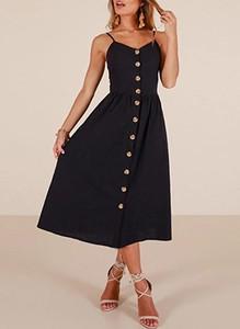 Sukienka Sandbella w stylu casual z dekoltem w kształcie litery v na ramiączkach