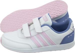 e4fd2fa024a1c Białe buty sportowe dziecięce na rzepy Adidas, kolekcja wiosna 2019