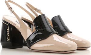 Czółenka Prada z klamrami w stylu glamour na obcasie