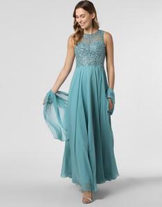 Niebieska sukienka Unique bez rękawów maxi