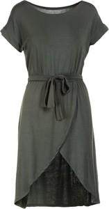 Zielona sukienka Multu w stylu casual z krótkim rękawem