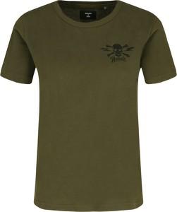 Zielony t-shirt Superdry z bawełny