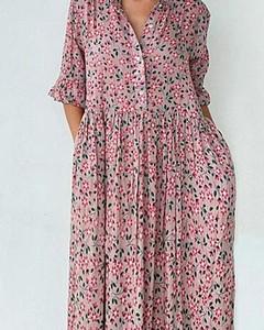 Sukienka Kendallme w stylu boho z dekoltem w kształcie litery v oversize