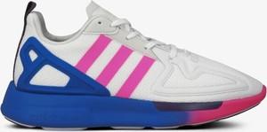 Buty sportowe Adidas z płaską podeszwą zx flux sznurowane