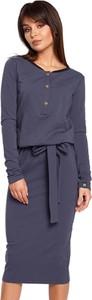 Sukienka BeWear w stylu casual midi z długim rękawem