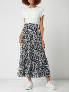 Granatowa spódnica Superdry w stylu boho z szyfonu