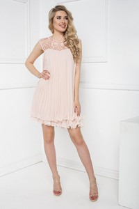 Różowa sukienka Marcelini z tiulu
