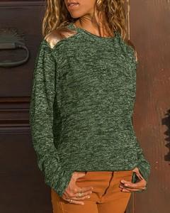 Zielona bluzka Kendallme z okrągłym dekoltem