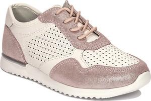 Buty sportowe producent niezdefiniowany z weluru sznurowane w sportowym stylu