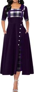 Sukienka Arilook maxi w stylu casual z długim rękawem