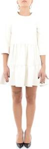 Sukienka Imperial z długim rękawem ze skóry