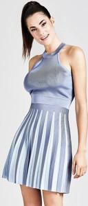Sukienka Guess mini bez rękawów rozkloszowana