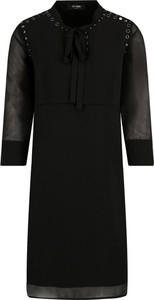 Czarna sukienka Mytwin Twinset z długim rękawem mini