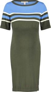 Esprit Sukienka ciążowa w kolorze oliwkowo-błękitnym