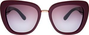 Czerwone okulary damskie Dolce & Gabbana