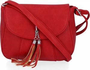 Czerwona torebka Herisson ze skóry na ramię