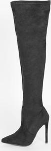 Czarne kozaki HERS.pl w stylu klasycznym za kolano