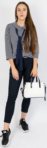 Granatowe spodnie Olika w stylu casual
