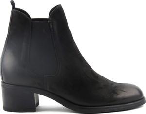 Czarne botki Venezia w stylu casual na obcasie