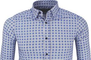 Niebieska koszula Biblos Slim z bawełny