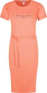 Sukienka Tommy Hilfiger midi w stylu casual
