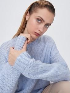 Niebieski sweter Sinsay z wełny