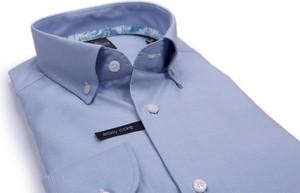 Niebieska koszula Lanieri z długim rękawem