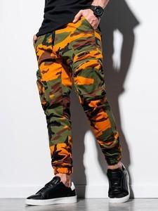 Czarne spodnie Ombre w militarnym stylu
