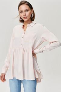 Różowa koszula FEMESTAGE Eva Minge w stylu casual