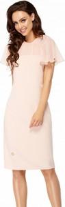 Różowa sukienka Lemoniade z krótkim rękawem z szyfonu