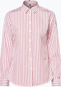 Czerwona bluzka Tommy Hilfiger w stylu casual z kołnierzykiem