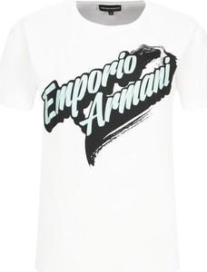 T-shirt Emporio Armani z nadrukiem w młodzieżowym stylu z krótkim rękawem