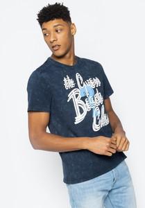 Granatowy t-shirt Guess