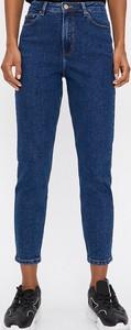 Granatowe jeansy House w stylu casual z jeansu