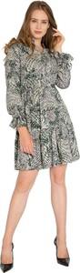 Sukienka Milena Płatek w stylu casual mini z długim rękawem