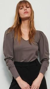 Brązowa bluzka Reserved w stylu boho z długim rękawem