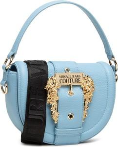 Niebieska torebka Versace Jeans matowa średnia na ramię