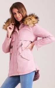 Różowa kurtka Sheandher.pl z bawełny w stylu casual