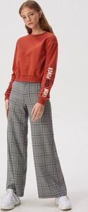 Bluza Sinsay krótka w młodzieżowym stylu