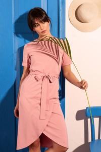 Sukienka Be z bawełny z okrągłym dekoltem mini