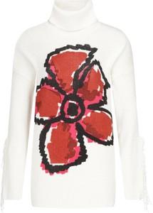 Sweter Desigual z nadrukiem w stylu casual