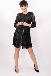 Czarna kurtka Alexandra Milano w stylu boho