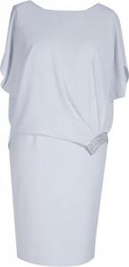 Sukienka Sklep XL-ka z okrągłym dekoltem z szyfonu