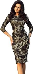 Sukienka NUMOCO z okrągłym dekoltem dopasowana