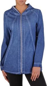 Niebieska kurtka POLSKA w stylu casual