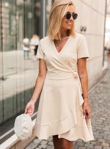 Sukienka SELFIEROOM mini z bawełny z dekoltem w kształcie litery v