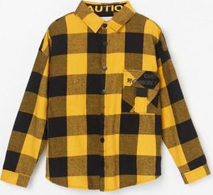 Żółta koszula dziecięca Reserved w krateczkę