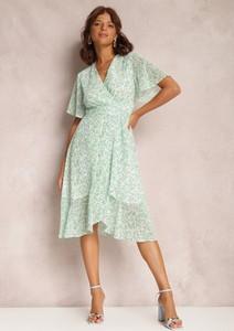 Zielona sukienka Renee trapezowa midi